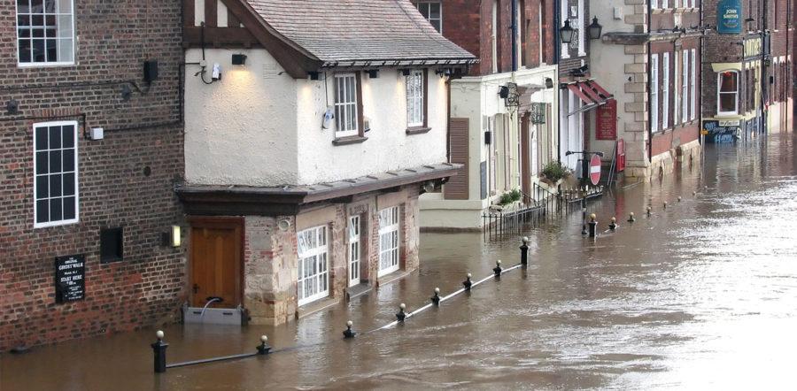 Flooded street UK | R&L Group Swansea
